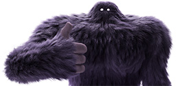 Monster giving a thumbs up